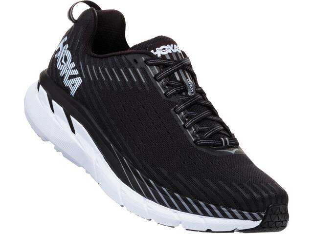 Hoka One One Clifton 5 Running Shoes Herre black/white
